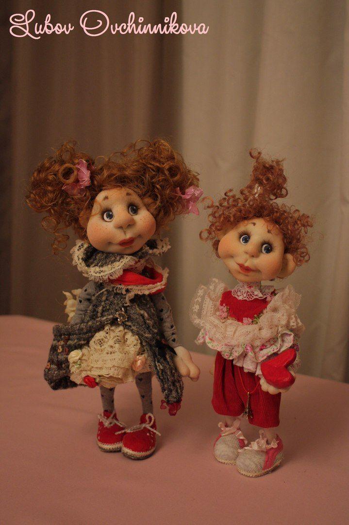Куклы интерьерные. Скульптурный текстиль.