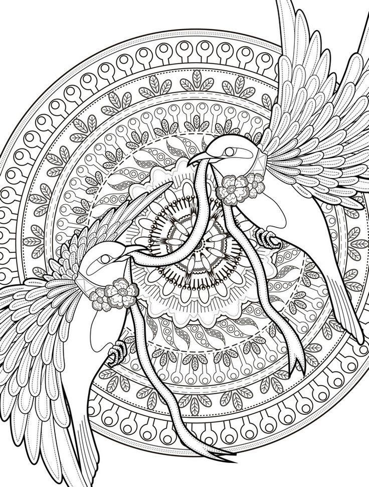 ausmalbilder-erwachsene-ausdrucken-komplizierte-vorlage-vögel-mandala
