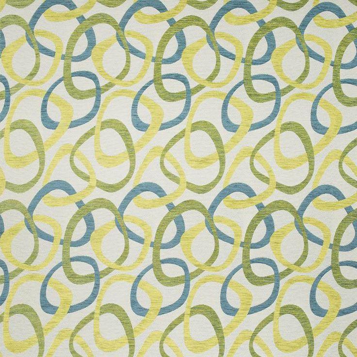 Warwick Fabrics : CIRCLES, Colour ATOLL