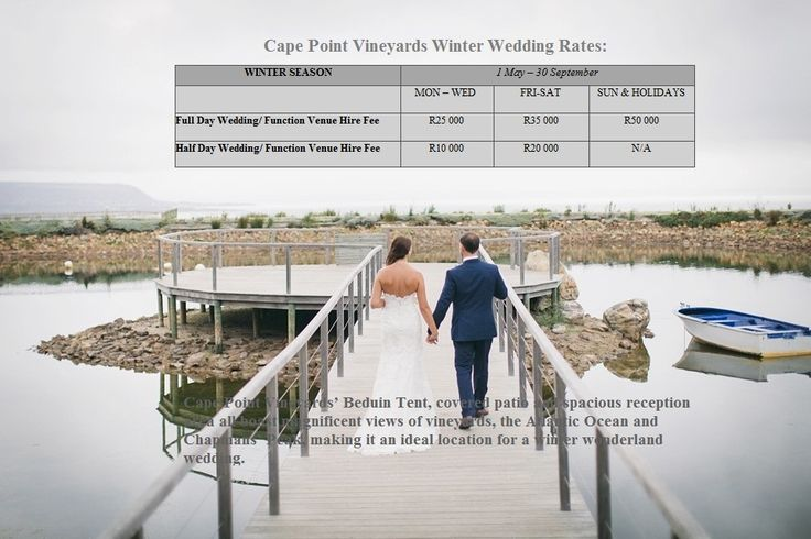 Cape Point Vineyards' Beduin Tent, covered patio and spacious reception area all boast magnificent views of vineyards, the Atlantic Ocean and Chapmans' Peak, making it an ideal location for a winter wonderland wedding.