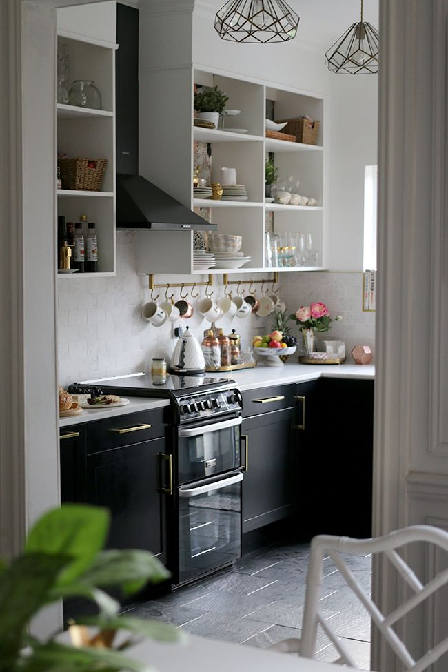 The REVEAL of our Black White and Gold Kitchen  Home