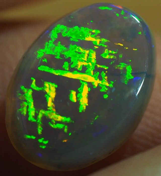 2 CTS CHINESE WRITING CRYSTAL OPAL FROM LIGHTNING RIDGE [SO9181]