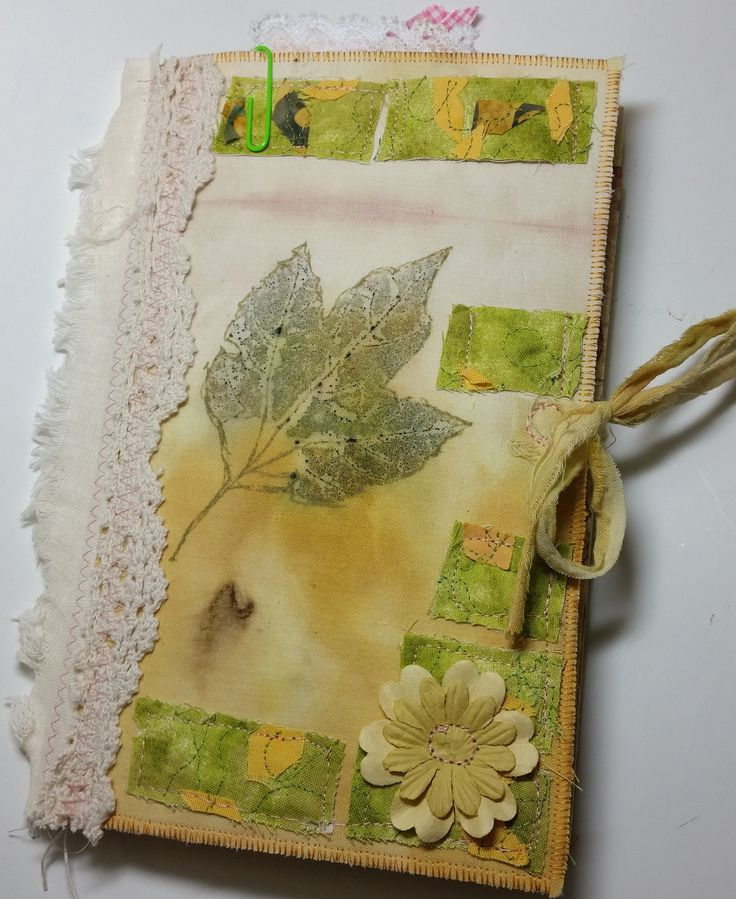 Eco Dyed Nature Journal Yellow Fabric Soft Cover Natural