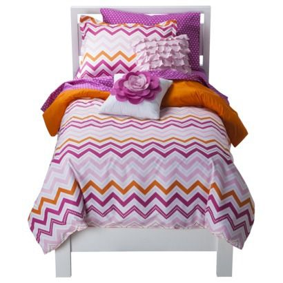 Circo® Pink Zig Zag Collection pink chevron bedding little girls room
