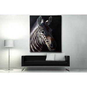 Canvas Safari Zwart