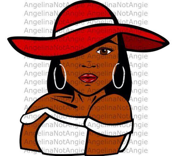 Download BLACK GIRL MAGIC SvG - Melanin DxF Black Woman in Hat Long ...