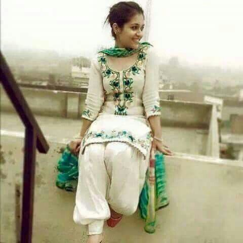 nice punjabi suit :)   vao beautifull outfit ..awsome colour combination get it replicate at @nivetas design studio  whatsapp +917696747289  visit us at https://www.facebook.com/punjabisboutique