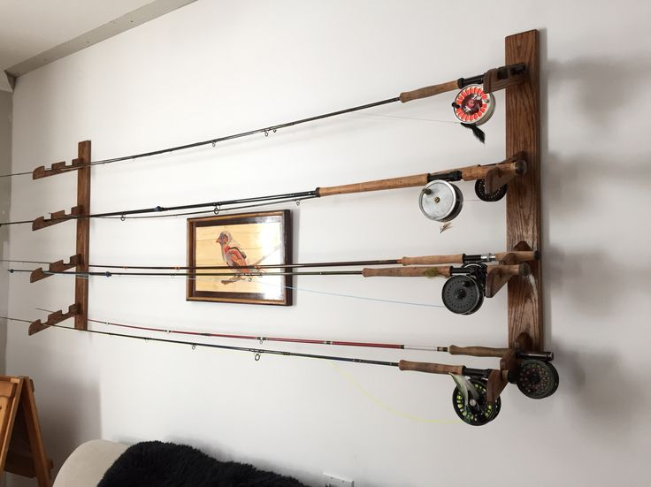 1000 ideas about rod rack on pinterest fishing gifts for Wall fishing pole holder