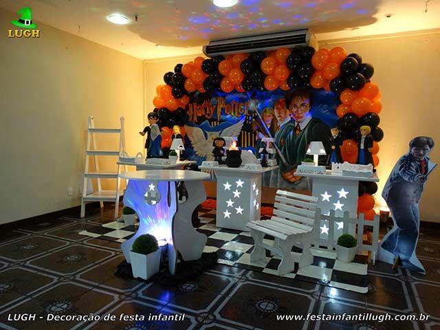 Decoração infantil Harry Potter para festa de aniversário  - Provençal simples
