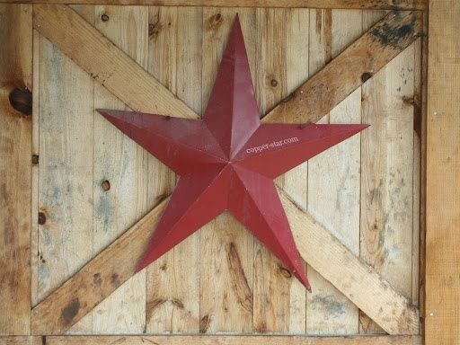 Rustic Western Red Barn Star Decor.