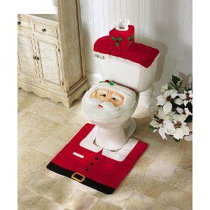 Cute Christmas Bathroom Set