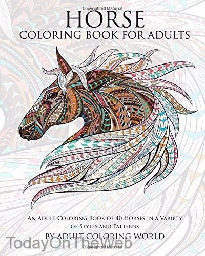 Horse Coloring Book For Adults An Adult Of 40 Horses