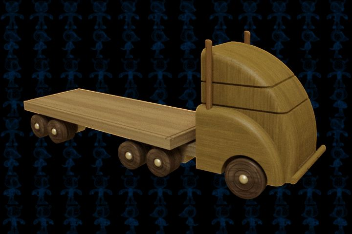 Car Truck Carrier Wooden Toy - SOLIDWORKS,AutoCAD,Parasolid - 3D CAD model - GrabCAD