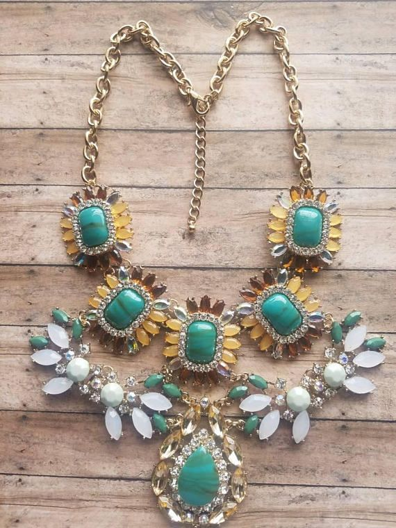 THIS NECKLACE IS ONLY $20 (available in 3 colors) 40% off sale ends 3/4/18 https://www.etsy.com/listing/582803592/green-faux-gemstone-necklace-gifts-for