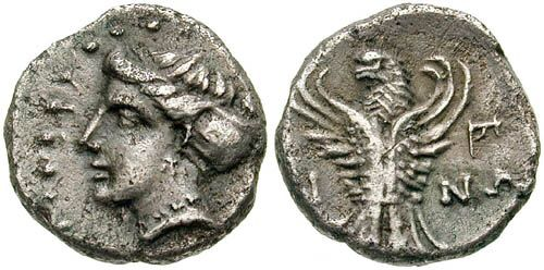 Ancient Greek Coin of Pontus, Paphlagonia, Sinope, Black Sea. Circa 4th Century BC.