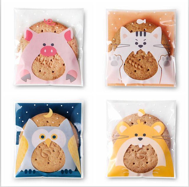 Супер МЧС 4 животных выпечки печенье подарочная упаковка ювелирных изделий мешок 10*11 + 3 см