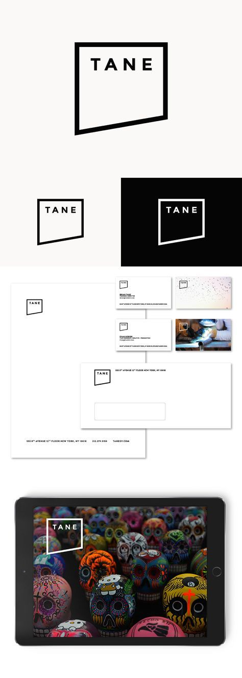 """Logo rebranding and new visual identity system for NY-based digital video agency: a film frame has been artistically cut off to create a bold logo mark, while ultra minimal approach helped the stationery to focus on featuring the studio's very own work (e.g. each business card has a unique """"frozen film frame"""" background)"""