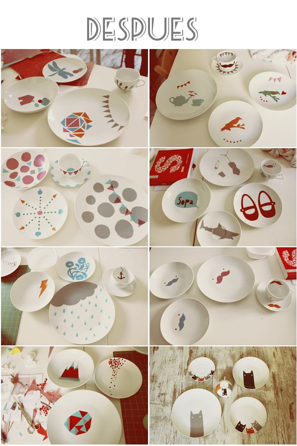 Painting ceramics, after