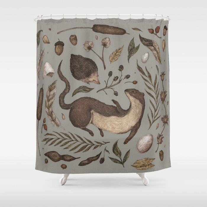 Buy Weasel And Hedgehog Shower Curtain By Jessicaroux Worldwide