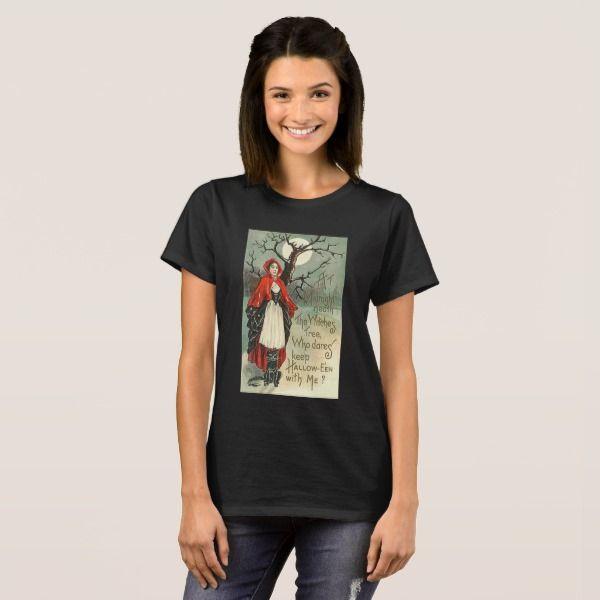 Vintage Halloween Image Women's T Shirt #halloween #holiday #creepyhollow #women #womensclothing
