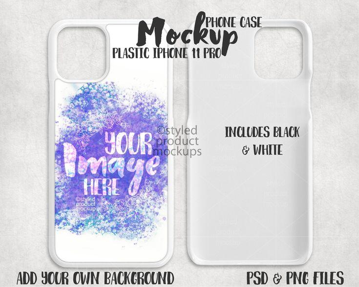 Dye sublimation iphone 11 pro phone case mockup add your