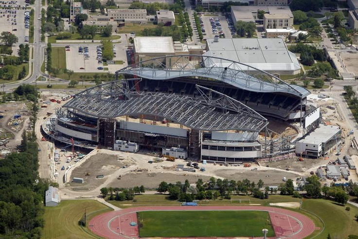 An areal view of Investors Group Field - future home of the Winnipeg Blue Bombers. July 3, 2012 (BORIS MINKEVICH / WINNIPEG FREE PRESS)