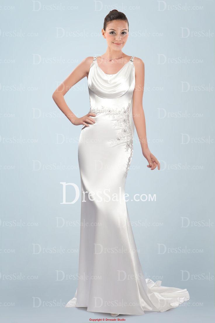 Silk sheath wedding dress   best wedding images on Pinterest  Short wedding gowns Wedding