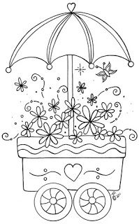 Flower cart pattern. My Little Art Blog...