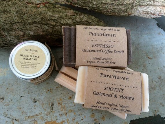 Men's Skincare Gift: Beard/ Face Balm 2 Body/ by PureHavenNaturals