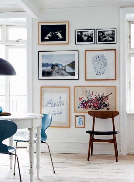 gallery wall in my scandinavian home: A wonderful Copenhagen home