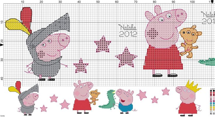 Paomamma: Noi amiamo Peppa Pig (cross stitch)