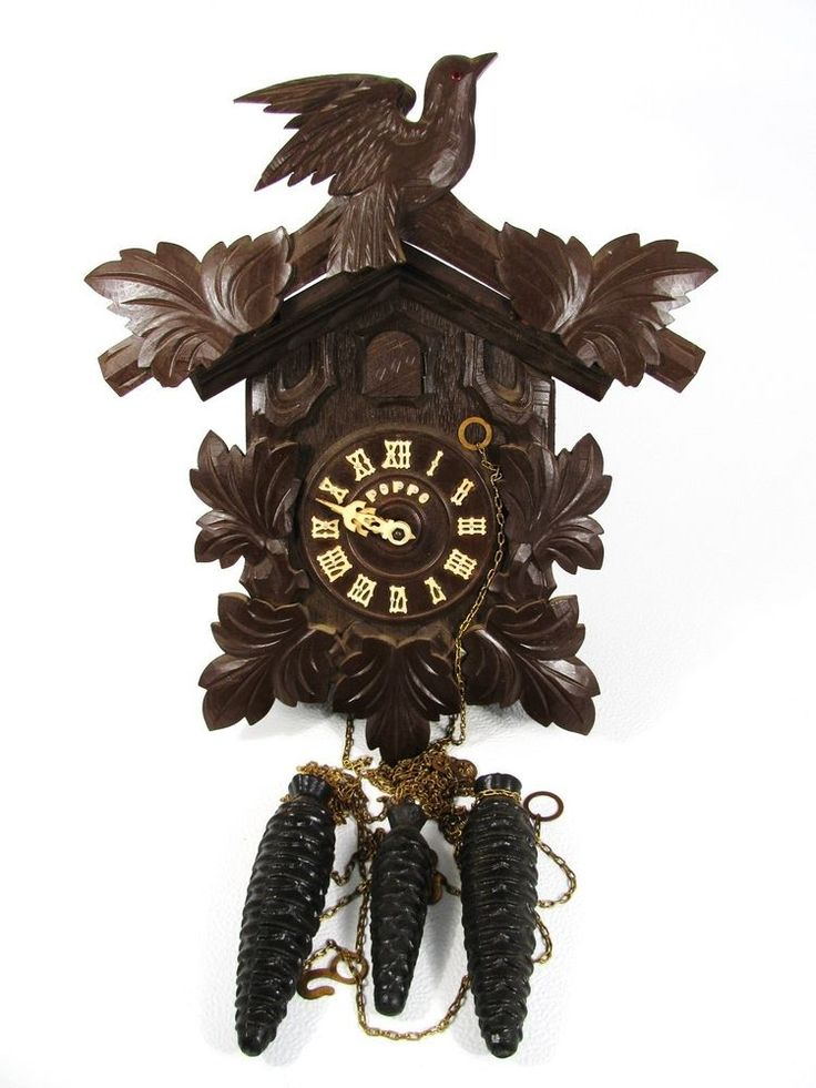 Vtg Poppo Tezuka Cuckoo Clock For Parts Or Repair Made In