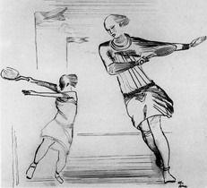 Tennis by Alexander Deineka (1928)