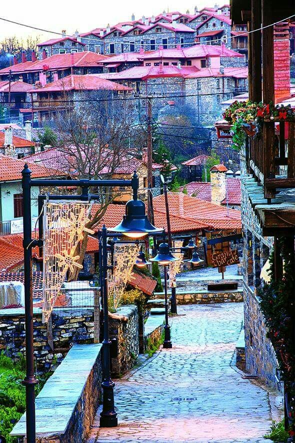 Agios Athanassios village in Edessa, Greece