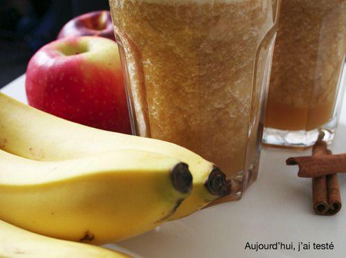 Apple, Nectarine, Banana & Cinnamon Smoothie, by Aujourd'hui, j'ai testé