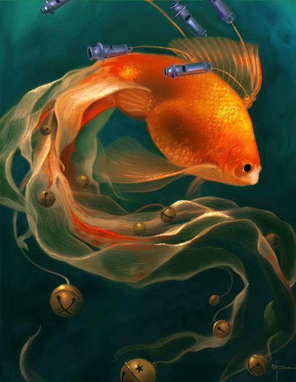 made by: Kevin Hooker , Digital Art - (Goldfish)