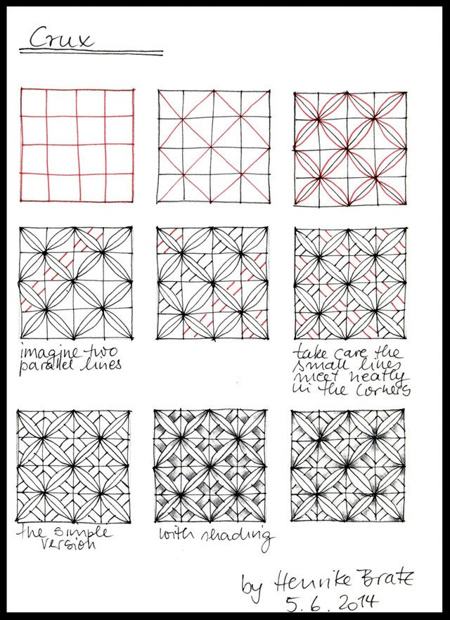 Crux Muster Malen Zentangle Muster Coole Muster