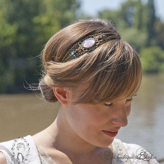 Headband style retro chaines en laiton couleur par HeadbandsElodie