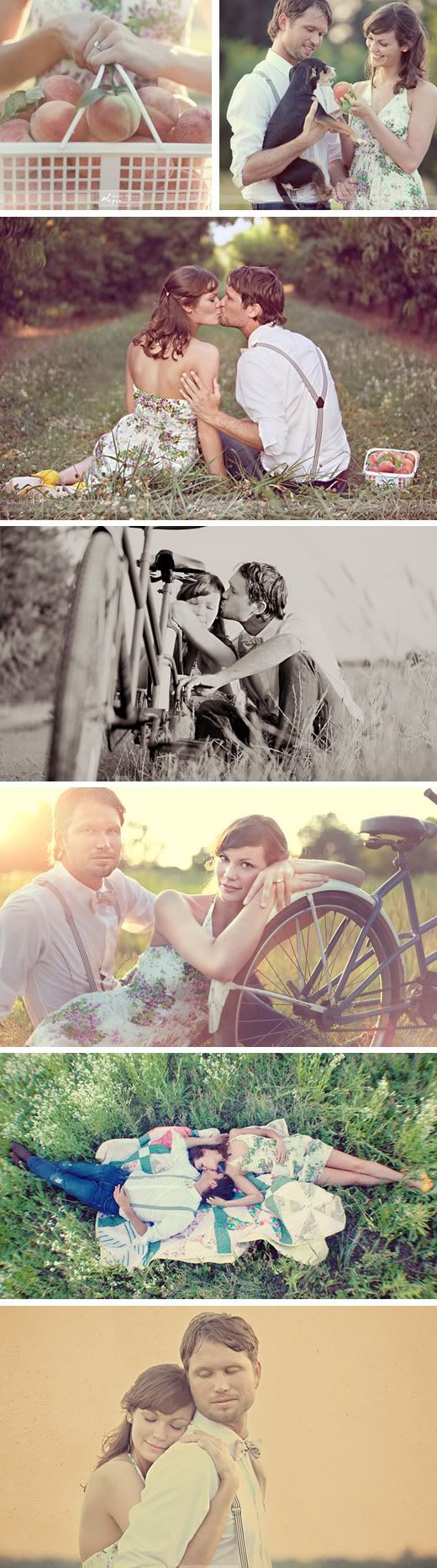 Vintage Engagement Photo Shoot - I know of a peach orchard near here! Too perfect!