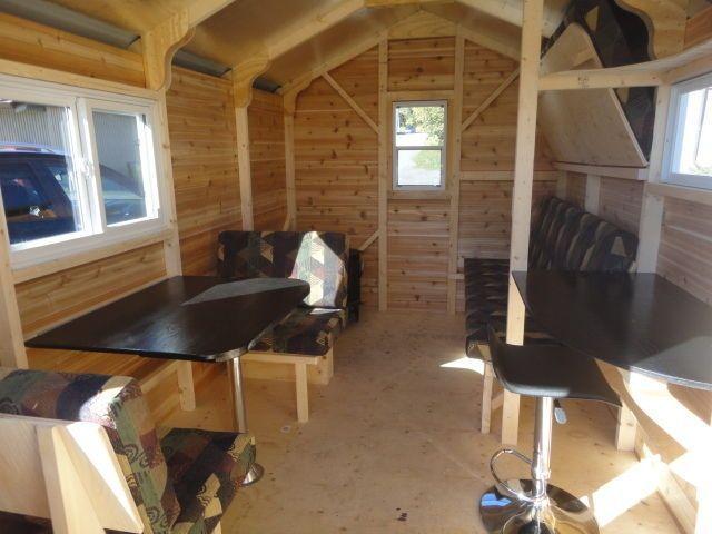ice shanty interiors   Kijiji: NEW 8'x12' ice huts with optional interiors
