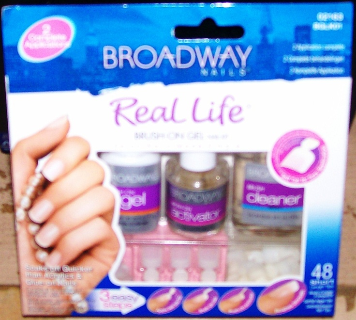 Brush On Gel Nails Broadway Real Life Nail Kit Salon