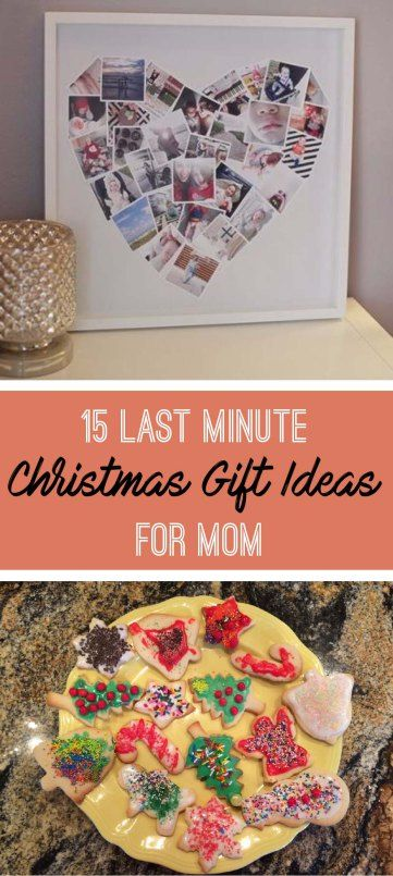 Here are some last minute Christ gift ideas for your mom! - 15 Last Minute Christmas Gift Ideas For Mom DIY Pinterest