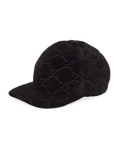 a47b364325c D363H Gucci GG Supreme Velvet Baseball Hat