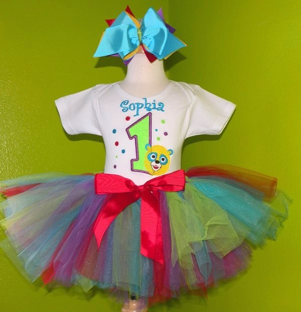 #MC Special Agent Oso Bear Girls Birthday Tutu Outfit by PoshBabyStore.com