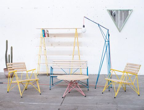 Polígono reinforcing steel furniture by Losgogo