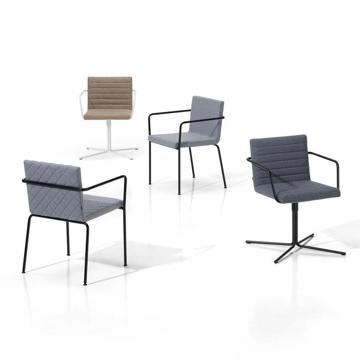 Balkonmobel Set Cube : Moderner Stuhl  Polster  Dreh ALINE by Studio INCLASS INCLASS MOBLES