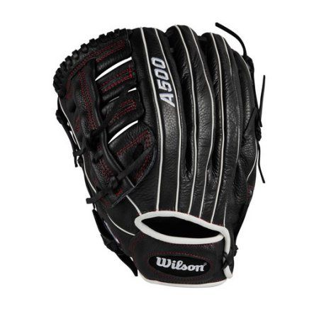 Wilson Sporting Goods A500 12.5 inch Baseball Glove Left or Right Hand Throw, White