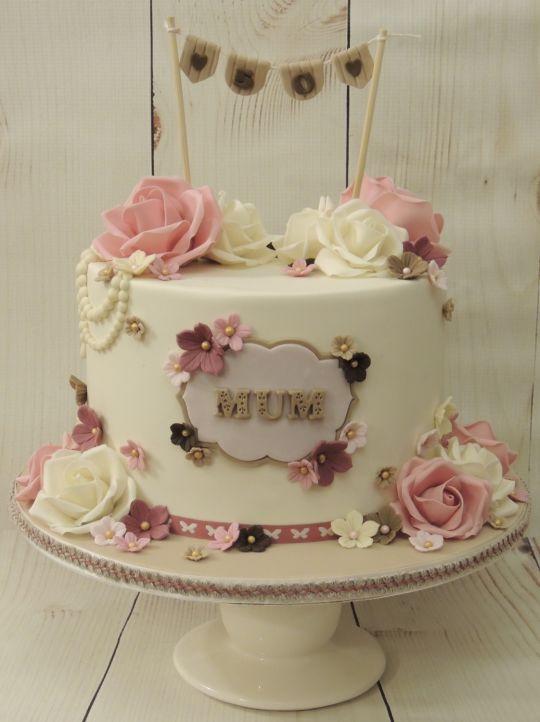 Vintage 50th Birthday Cake