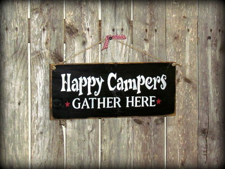 Wooden Camping sign / Happy Campers  Camp Decor / by Woodticks, $15.95