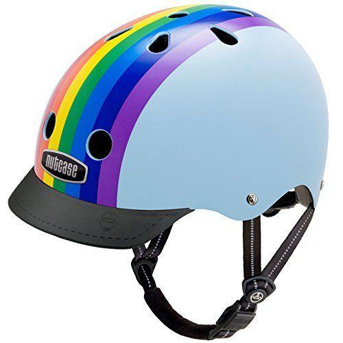BMX Helmets - Nutcase  Street Bike Helmet Fits Your Head Suits Your Soul  Rainbow Sky Medium >>> Visit the image link more details.